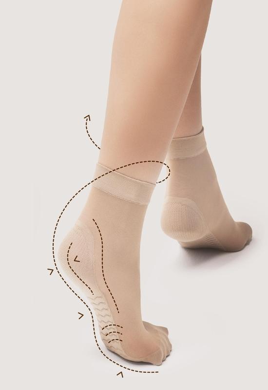 Silonkové ponožky Fiore Massage 20 Antibacterial